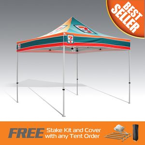 Best Seller Promo Tent 10x10 Fully Digital Printed Steel Frame