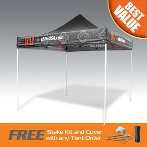 Best Deal 10x10 Digitally Printed Pop Up Tent W/Fast Production