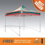 Custom Best Seller Promo Tent 10x10 Fully Digital Printed Steel Frame
