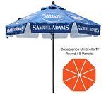 Custom Custom Printed Round Market Umbrella 11' - Casablanca Line