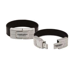 Black Bracelet Leather Usb Flash Drive