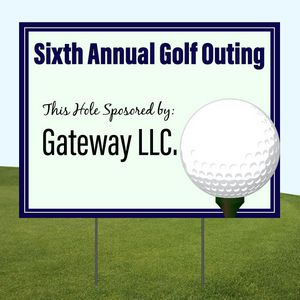 Golf Sponsorship Yard Signs
