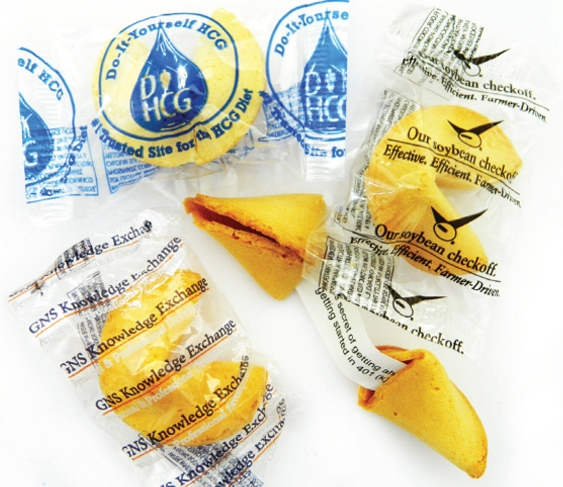 Custom Fortune Cookie w/Custom Label, FC-201, Full Colour Imprint
