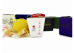 1 Pint White Carry Out w/4 Fortune Cookies, KFC-118, One Colour Imprint