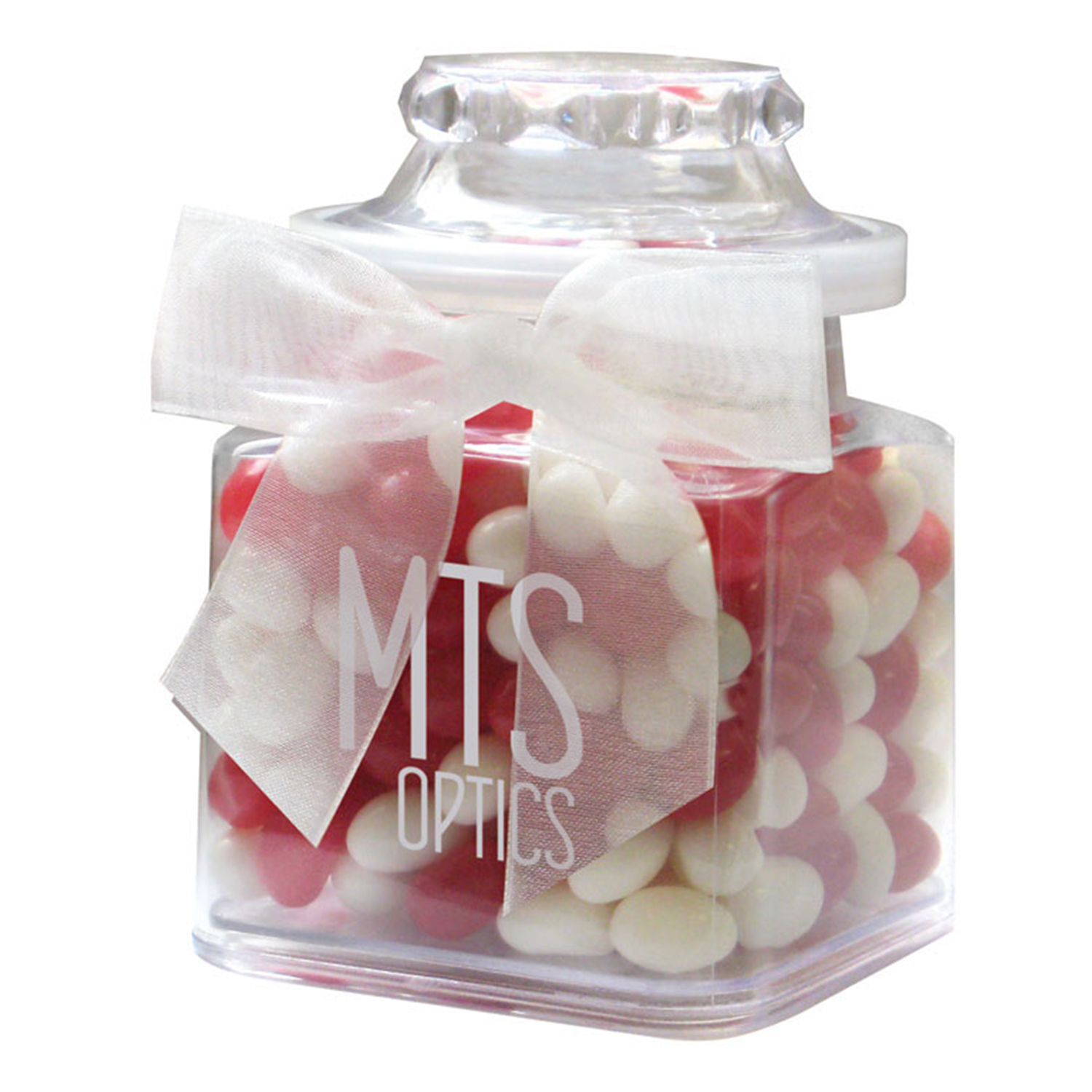 8 Oz. Plastic Jar w/ Gourmet Jelly Beans, P208-GJEL, One Colour Imprint