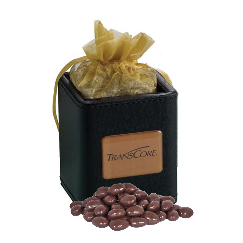 X-Cube Pen Holder w/ Dark Chocolate Almonds, 425-DCA, Full Colour Imprint