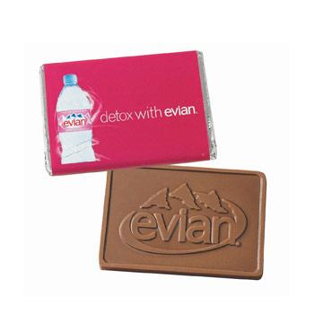 1 Oz. Custom Molded Chocolate Wrapper Bar, WB1, Chocolate Mold Imprint