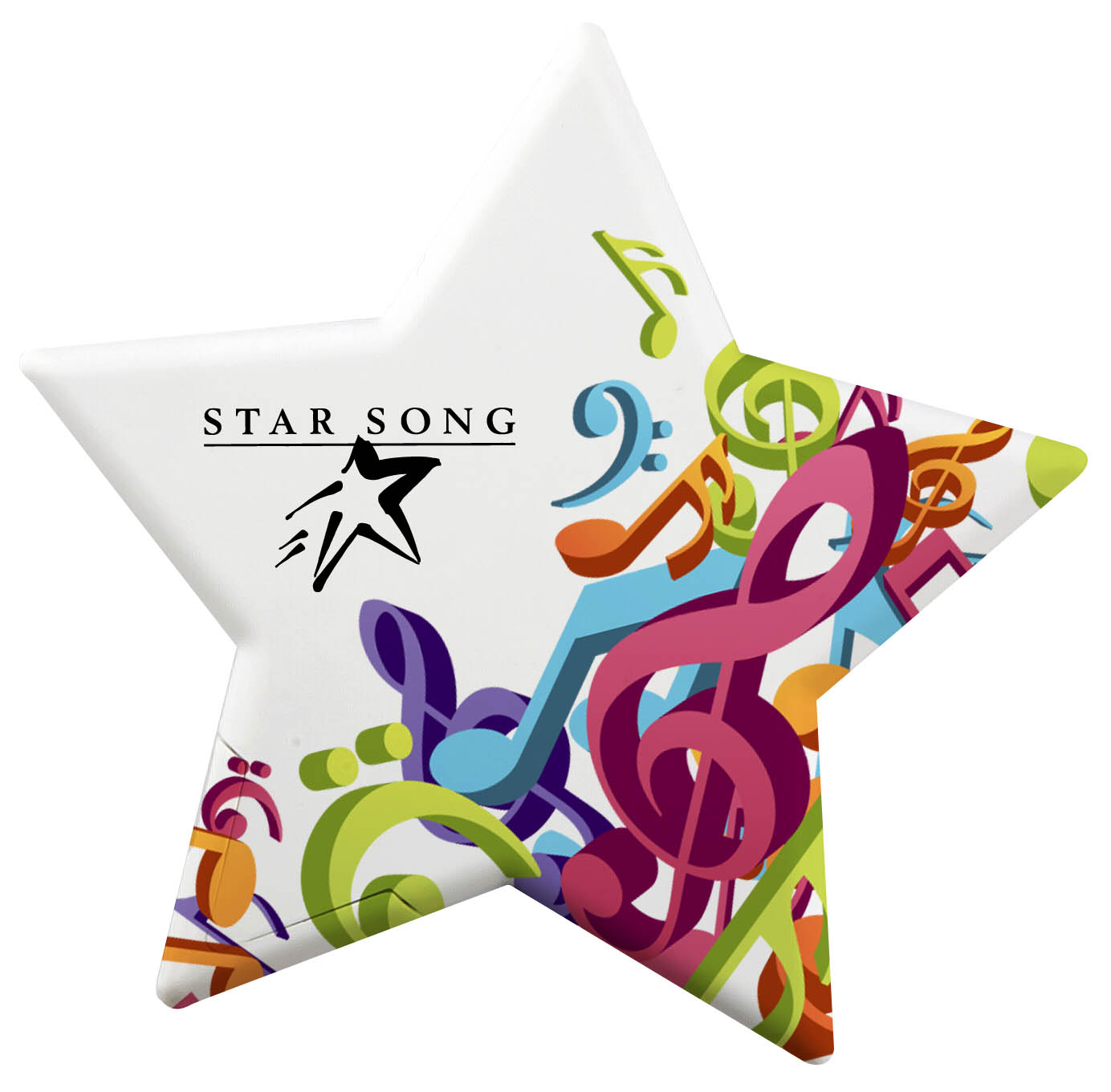 Star Shaped Mint Card, 150, Full Colour Imprint