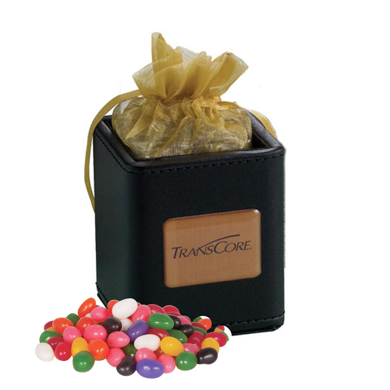 X-Cube Pen Holder w/ Jelly Beans (Assorted), 425-JEL, Full Colour Imprint