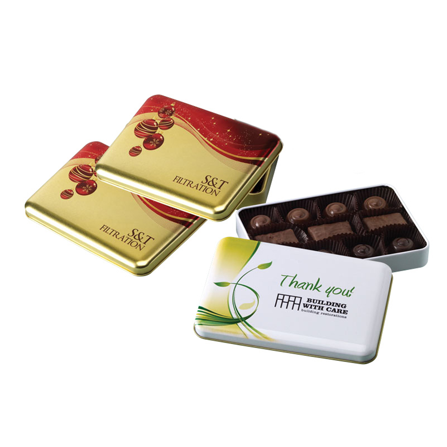 One of a Kind Tin with Truffle/Toffee Assortment, 325-ATRF, One Colour Imprint