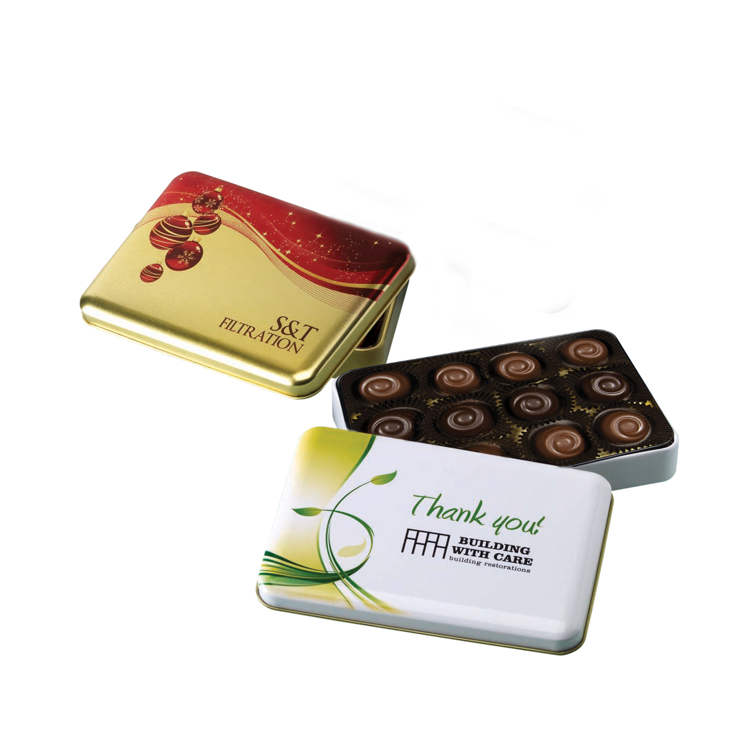 One of a Kind Tin w/ Signature Truffles, 325-STRF, One Colour Imprint