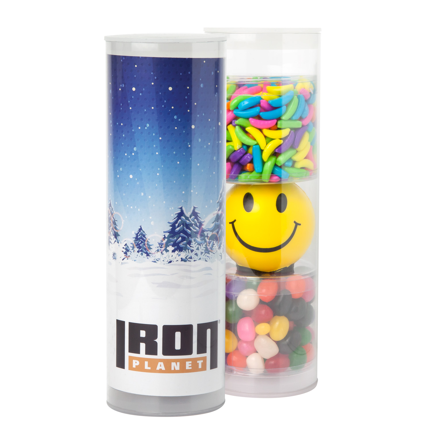 3-Piece Stress Relief Candy Gift Tube, 3TUBE-SRC, Full Colour Imprint