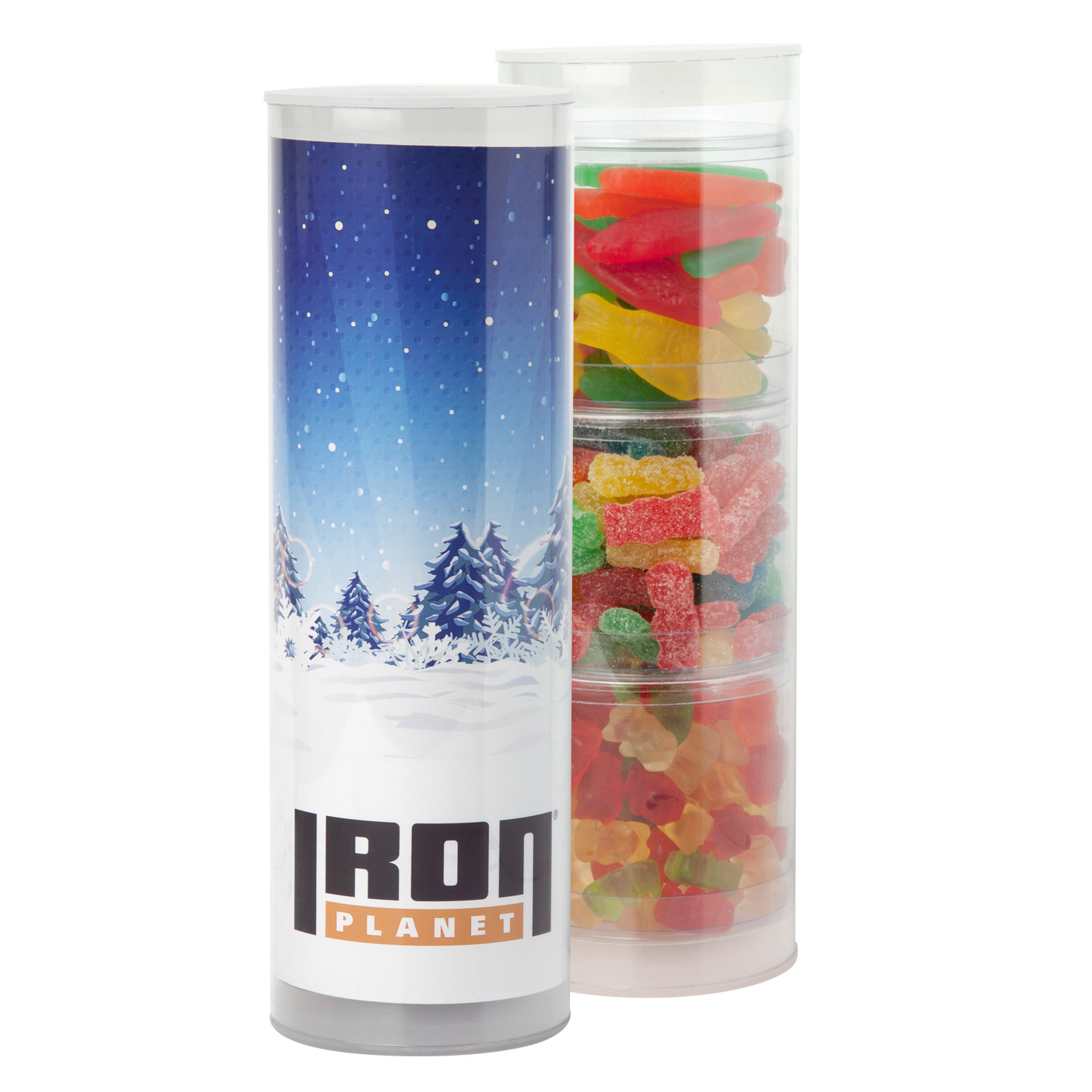 3-Piece Gift Tube w/Gummy Candy, 3TUBE-GMY, Full Colour Imprint