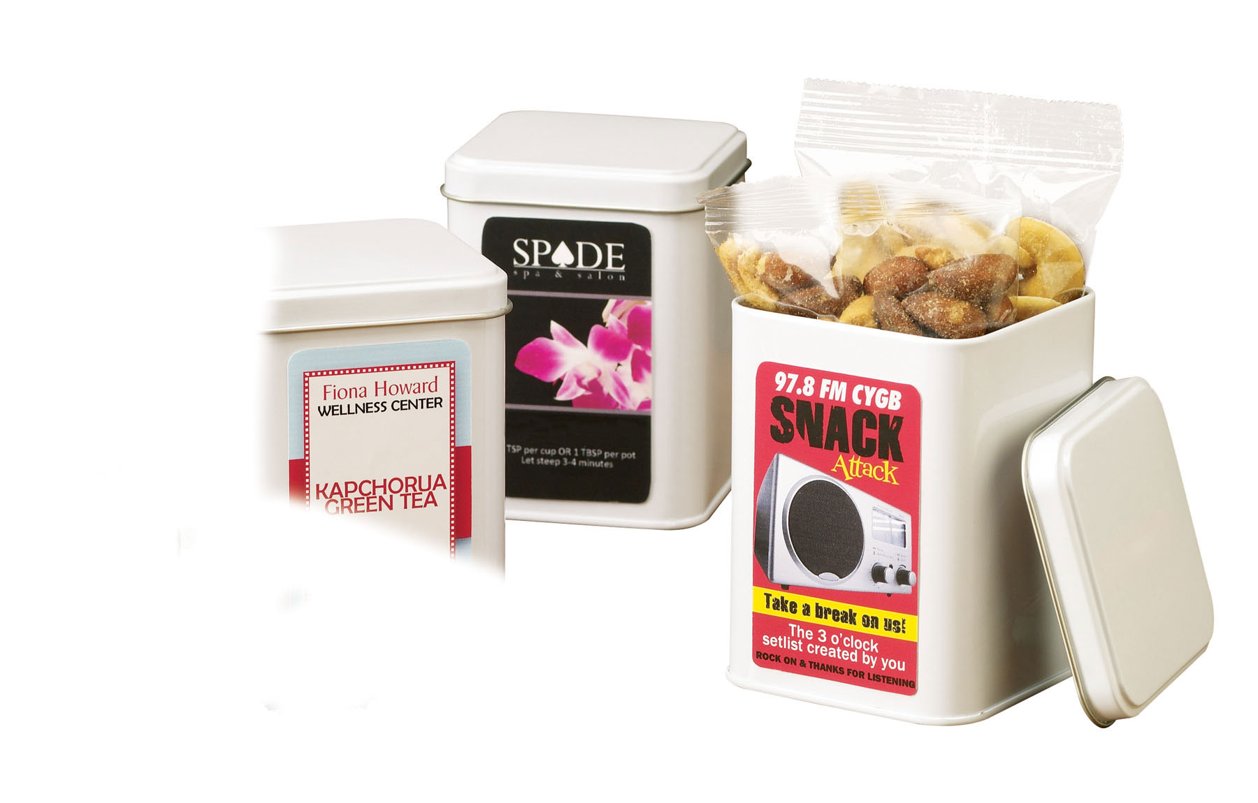 Dark Chocolate Espresso Beans in Canister, 420-DCE, Full Colour Imprint