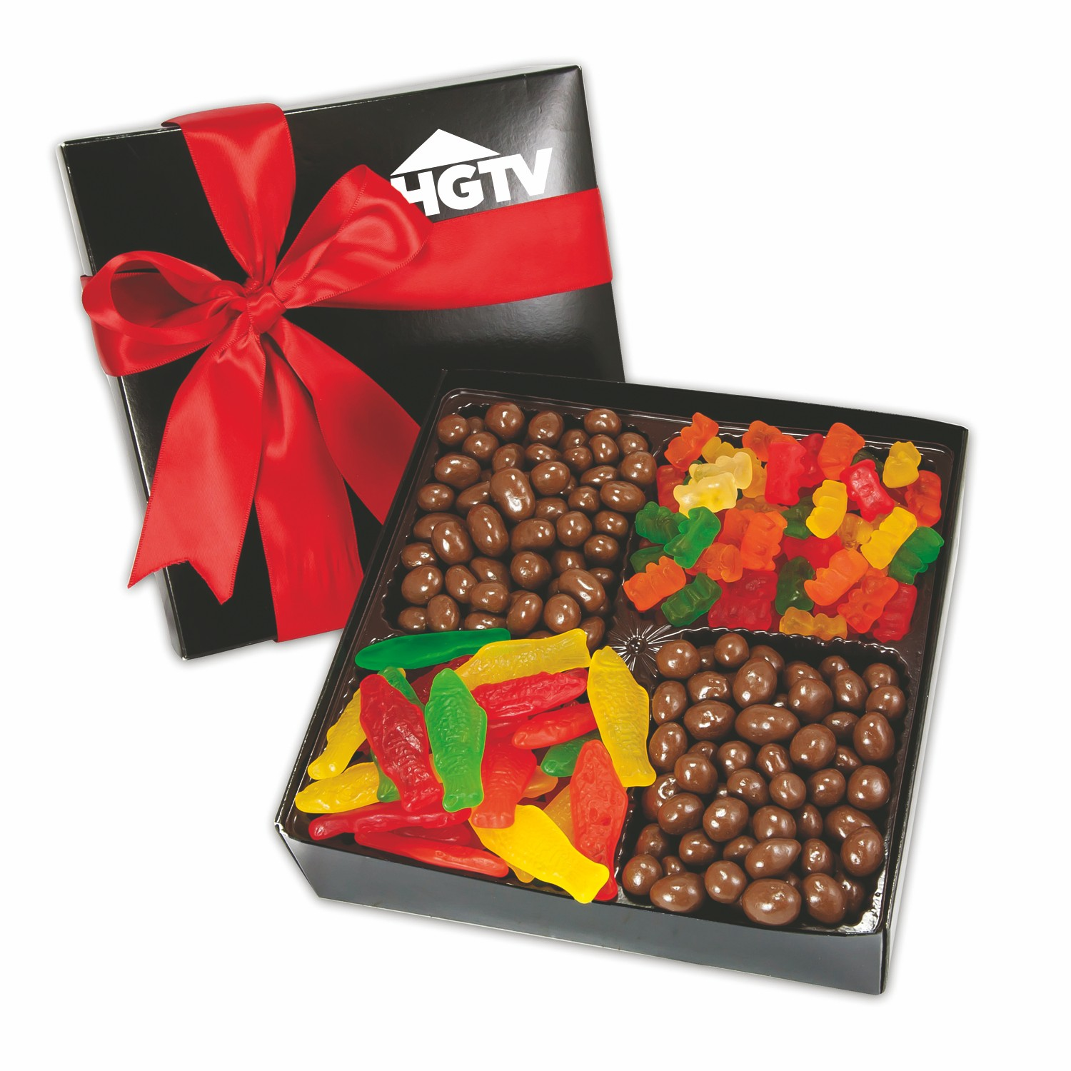 4 Delight Gift Box w/Gourmet Confections, 4CGB-GC, One Colour Imprint