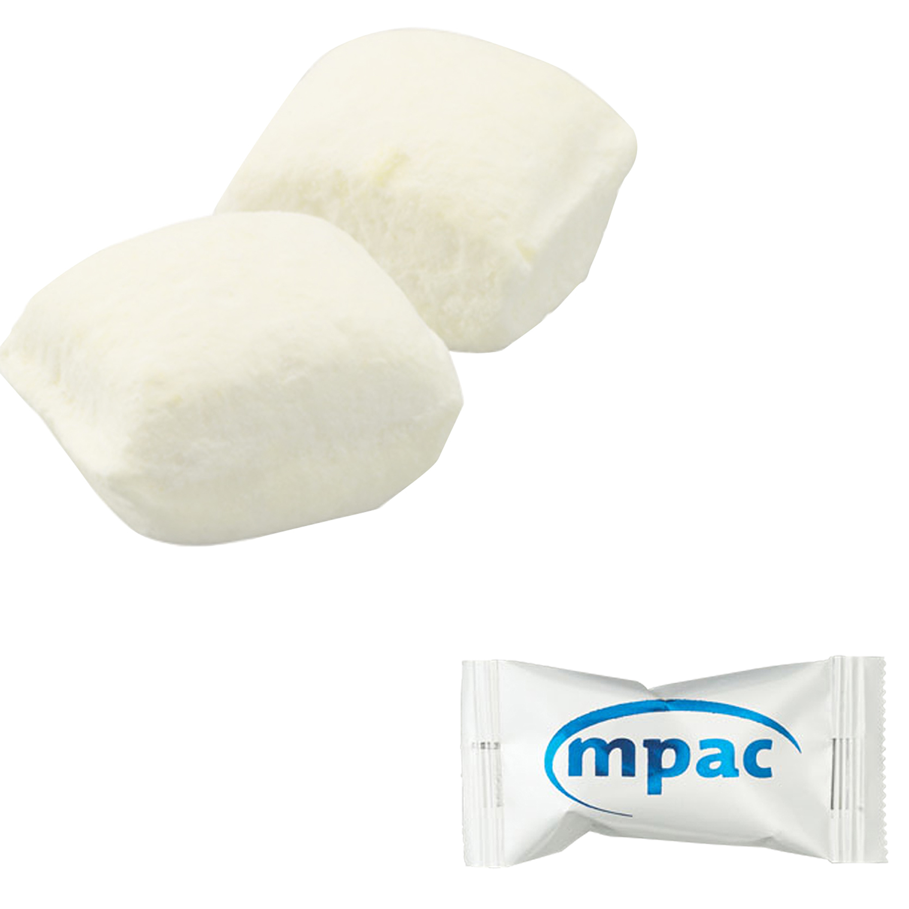 Individually Wrapped White Buttermints, PP-BWHT, One Colour Imprint