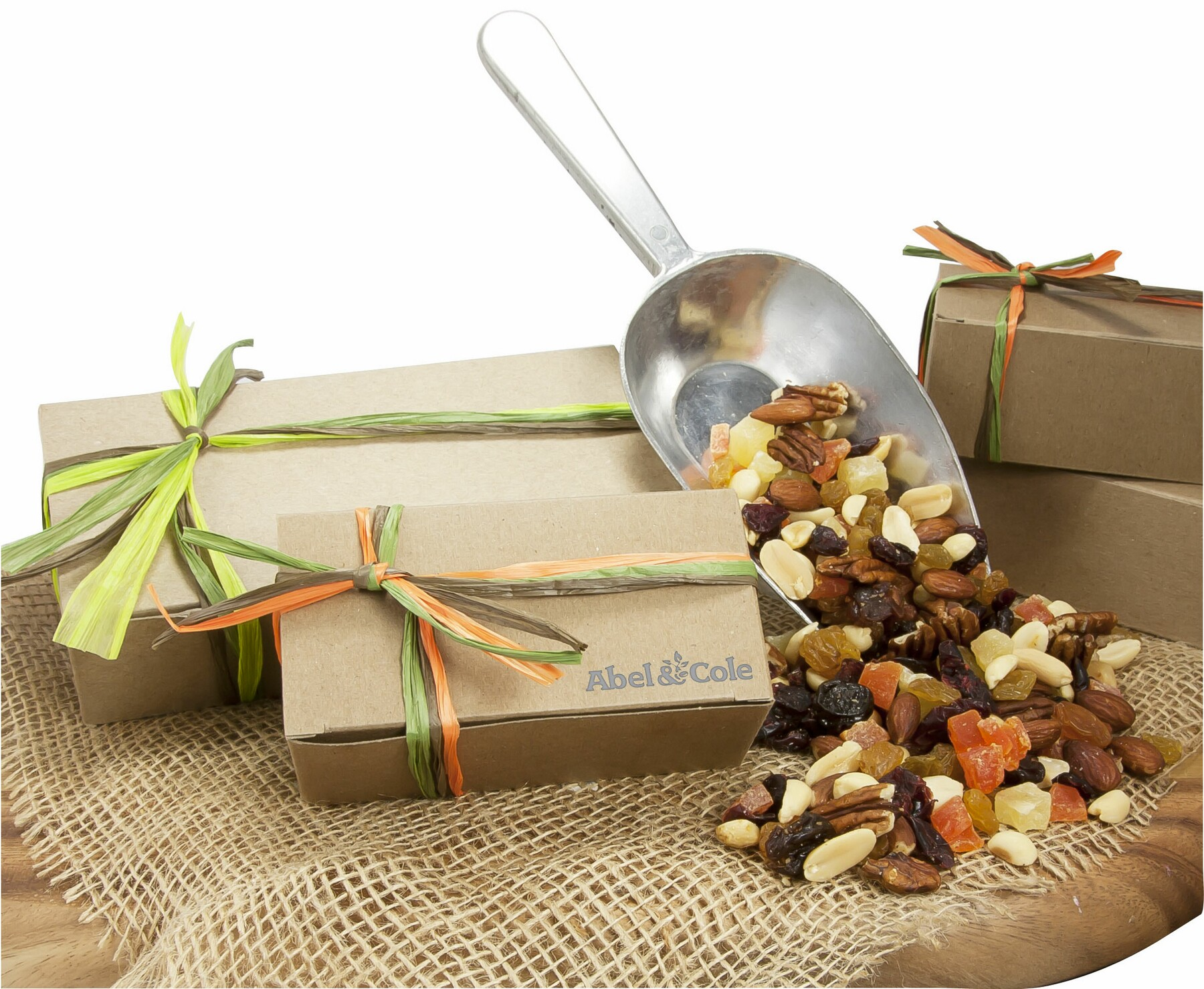 Small Natural Kraft Box w/Sweet Cranberry Crunch, SNKB-SCC, One Colour Imprint