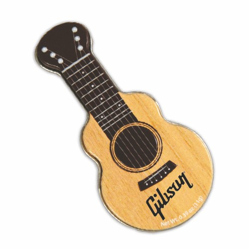 Woodgrain Acoustic Guitar Shaped Mint Tin, AGCL, One Colour Imprint
