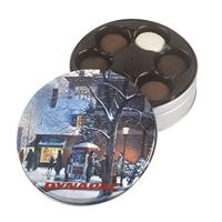 Glad Tidings Tin w/Gourmet Sandwich Cookies Selection, 600-CRCC, Full Colour Imprint