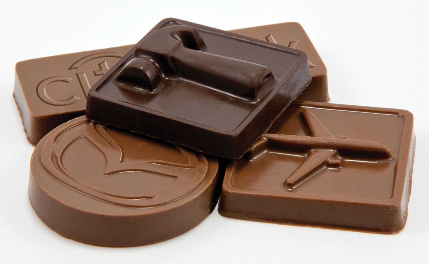 Custom Chocolate Pieces Individually Wrapped, PP-CCP, One Colour Imprint