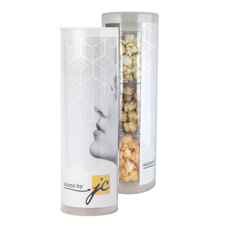 3-Piece Gift Tube w/Popcorn, 3TUBE-POP, Full Colour Imprint