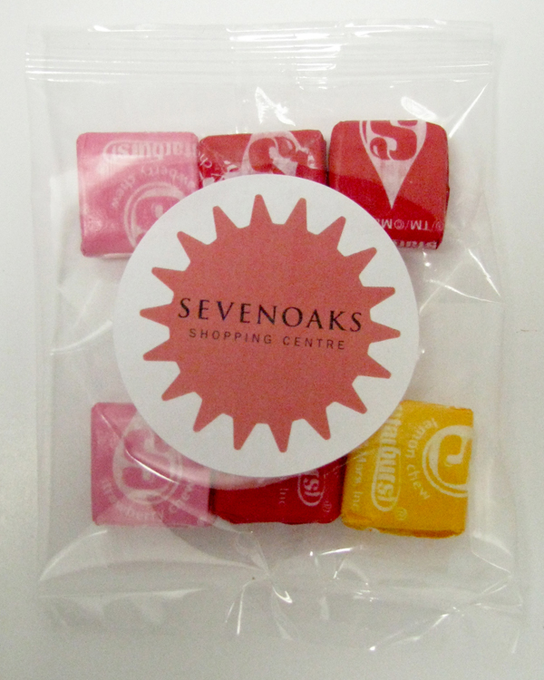 1 Oz. Goody Bag Starburst, GB-STAR, Full Colour Imprint