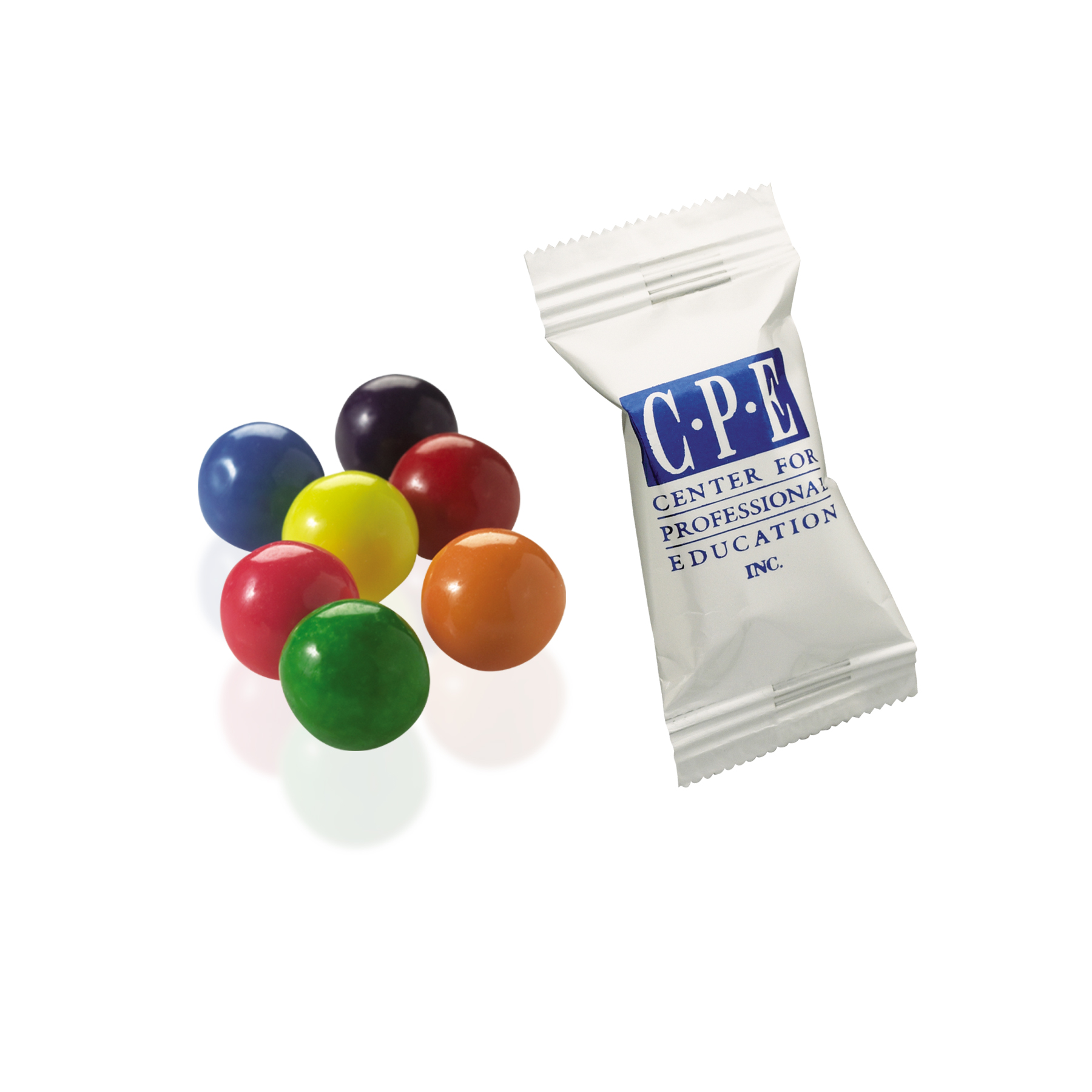 Individually Wrapped Rainbow Bubble Gum, PP-DBG, One Colour Imprint