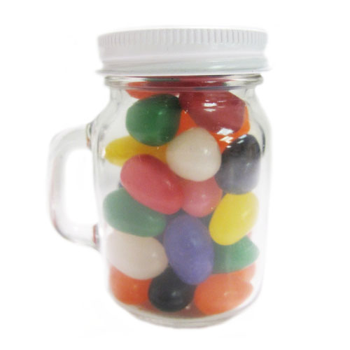 3.65 Oz. Glass Mini Mason Jars w/Assorted Jelly Beans, MMJ-JEL, One Colour Imprint