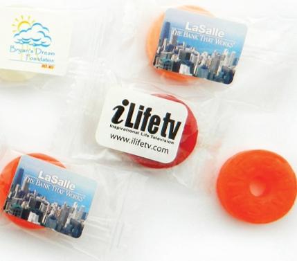 Fruit Flavor Individual Lifesavers, CN-493, Full Colour Imprint