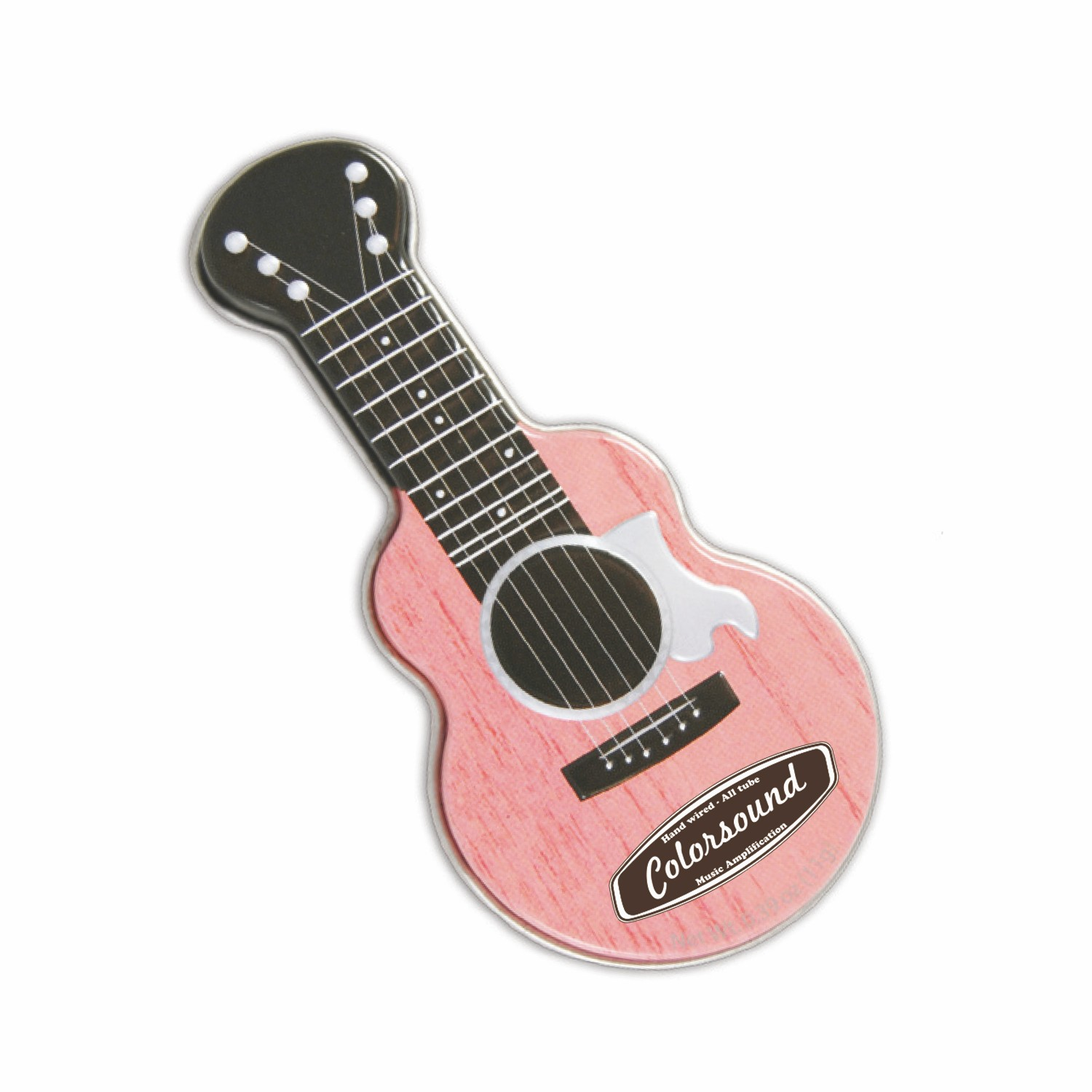 Pink Acoustic Guitar Shaped Mint Tin, AGPK, One Colour Imprint