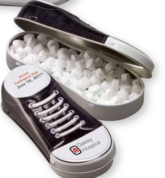 Sneaker Tin w/Sugar-Free MicroMints, 370, One Colour Imprint