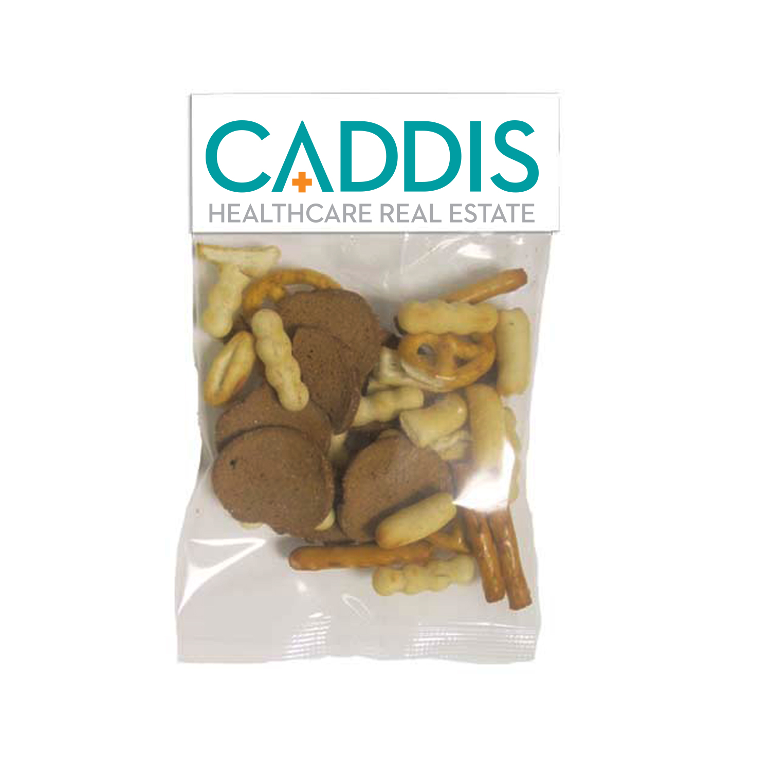Small Header Bags Gardetto Snack Mix, HBS-SNK, One Colour Imprint