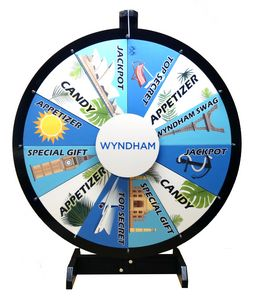 32 Inch Removable Graphics Prize Wheel