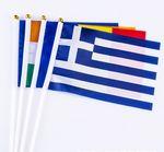 Custom Mini Hand Held Flag on Stick