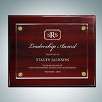 Custom Rosewood Piano Finish Plaque Floating Acrylic Plate (Small)
