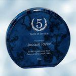 Custom Blue Marble Aurora Acrylic Award (Medium)