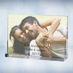 Custom Color Photo Imprinted Horizontal Rectangle Optical Crystal Award Plaque (4