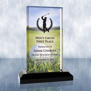 Sublimational Beveled Impress Acrylic Golf Award (Medium)
