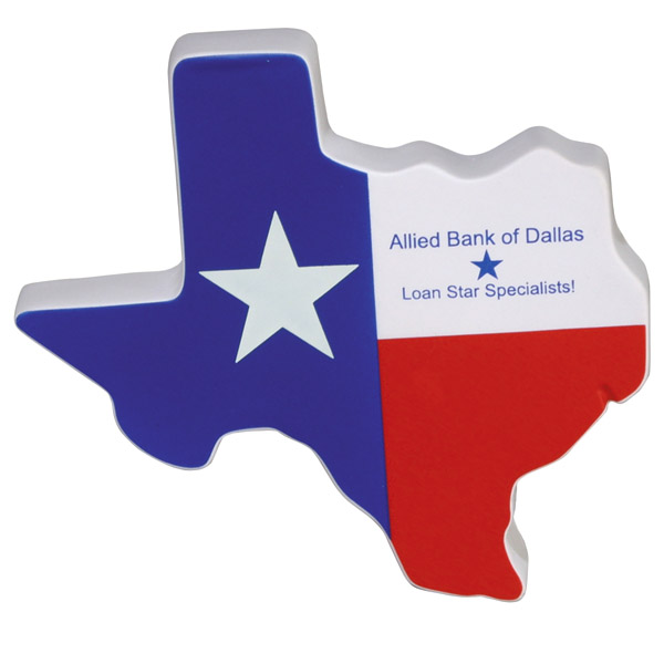 Lone Star State Stress Reliever, LTV-LS01, 1 Colour Imprint