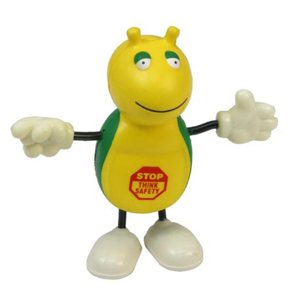 Cute Bug Figure Stress Reliever, LCH-CB03 - 1 Colour Imprint