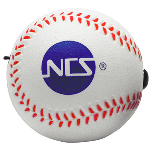 Baseball Yo-Yo Bungee Stress Reliever, LYY-BA01 - 1 Colour Imprint