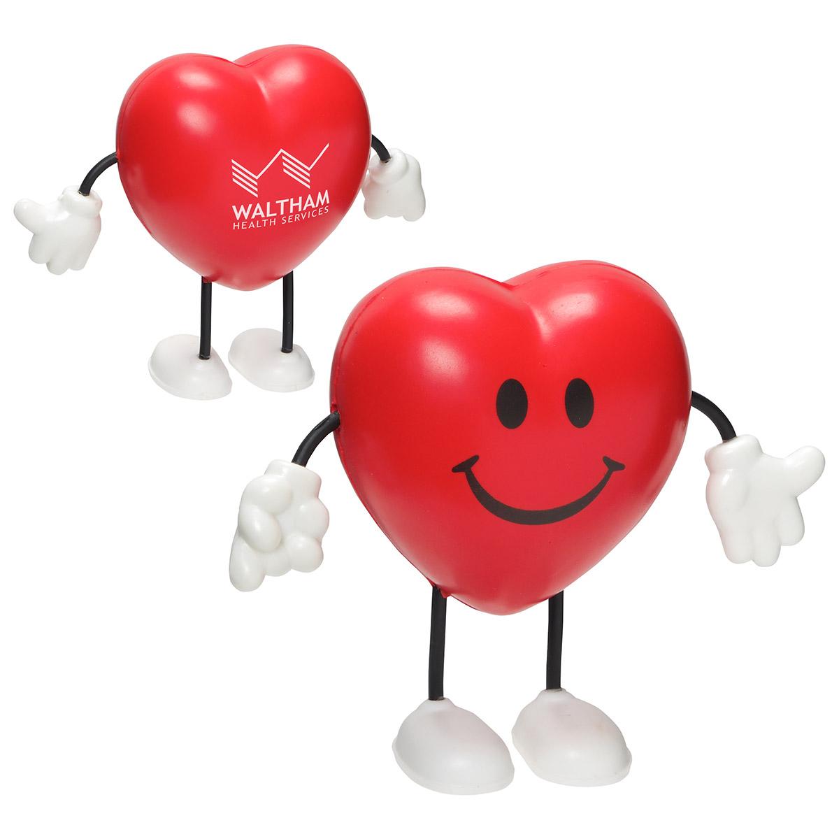 Valentine Heart Stress Reliever Figure, LCH-VH07, 1 Colour Imprint