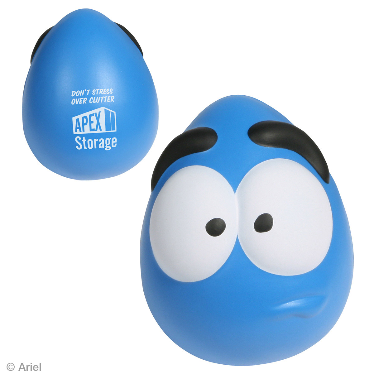 Stressed Mood Maniac Wobbler Stress Reliever, LCA-WS10 - 1 Colour Imprint