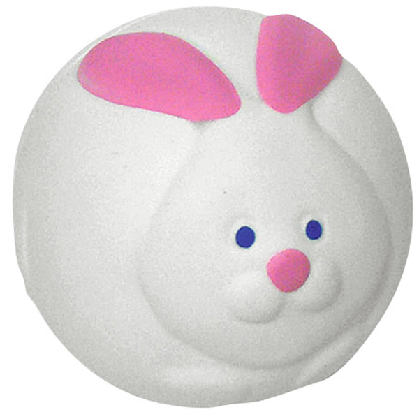 Bunny Rabbit Ball Stress Reliever, LHO-BR09, 1 Colour Imprint