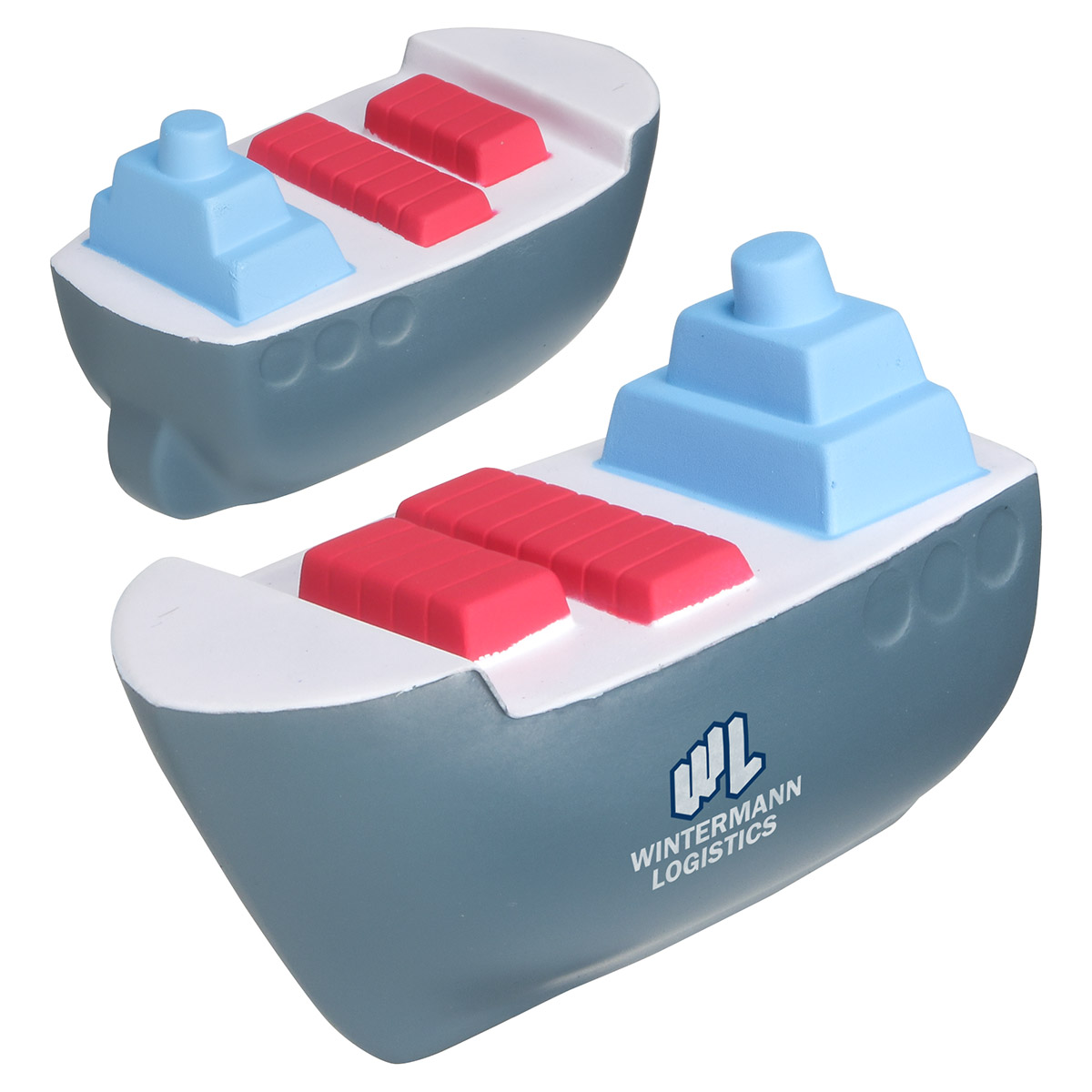 Cargo Boat Stress Reliever, LTR-CA02, 1 Colour Imprint