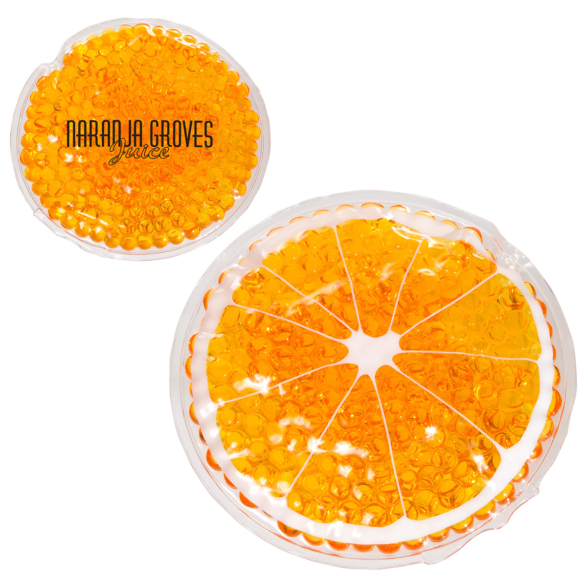 Orange Hot/ Cold Pack (FDA approved, Passed TRA test), WHF-OR15 - 1 Colour Imprint
