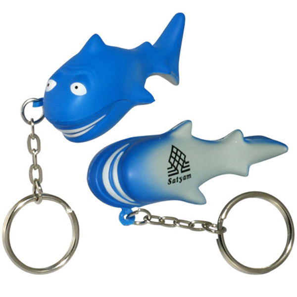 Shark Stress Reliever Keychain, LKC-SK08 - 1 Colour Imprint