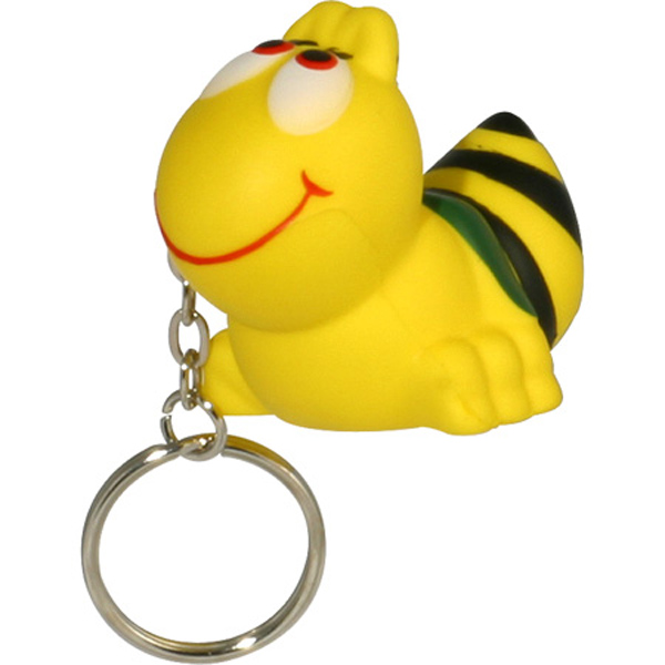 Bee Stress Reliever Keychain, LKC-BE19 - 1 Colour Imprint