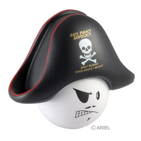 Pirate Mad Cap Stress Reliever, LMA-PR06 - 1 Colour Imprint