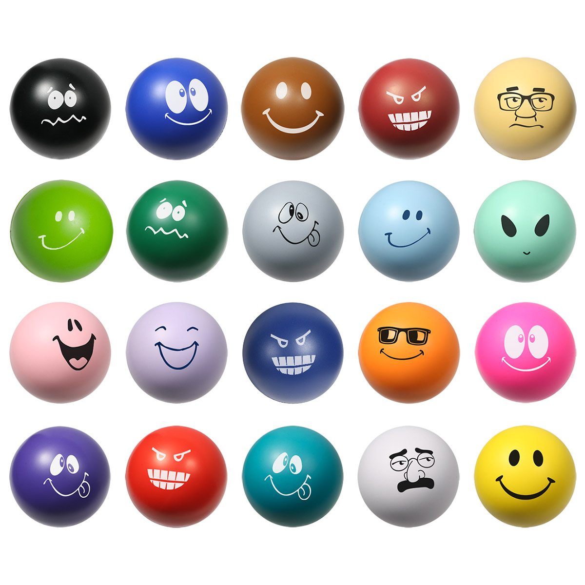 Emoticon Stress Ball, LSB-EM11, 1 Colour Imprint